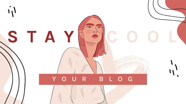 Mode banner blog Gratis Vector