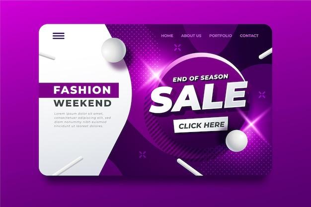 Mode einde seizoen verkoop bestemmingspagina Gratis Vector