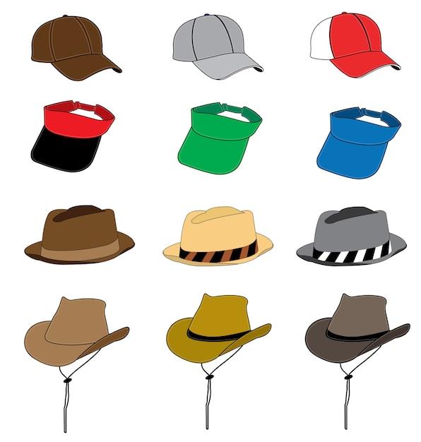 Mode hoed vector sjabloon Premium Vector