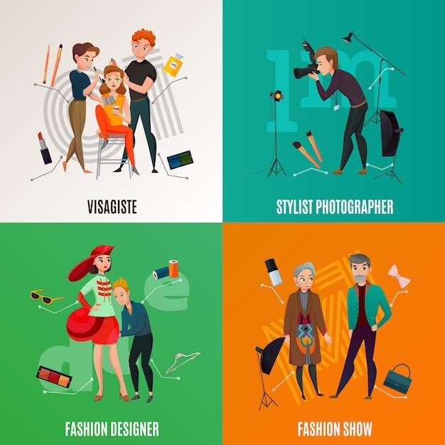 Mode industrie concept Gratis Vector