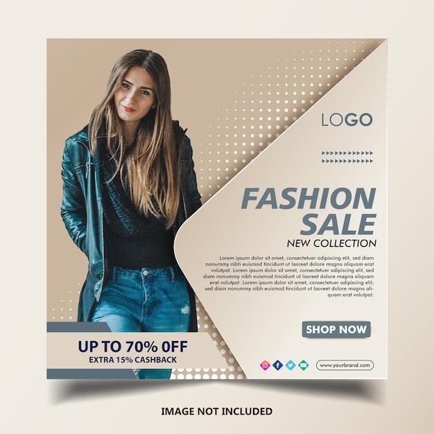 Mode instagram banner post-sjabloon Premium Vector