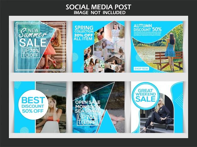 Mode instagram verhaal banner Premium Vector