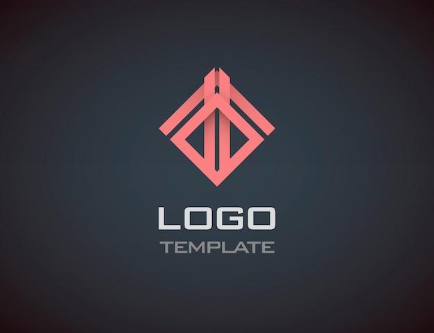 Mode-sieraden luxe concept abstract logo sjabloon. bedrijfs embleem Premium Vector