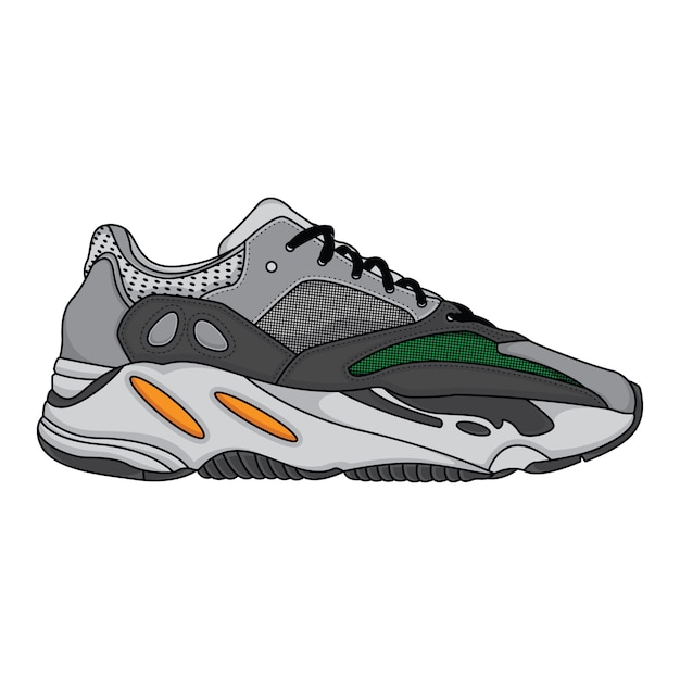 Mode sneakers schoenen sport Premium Vector