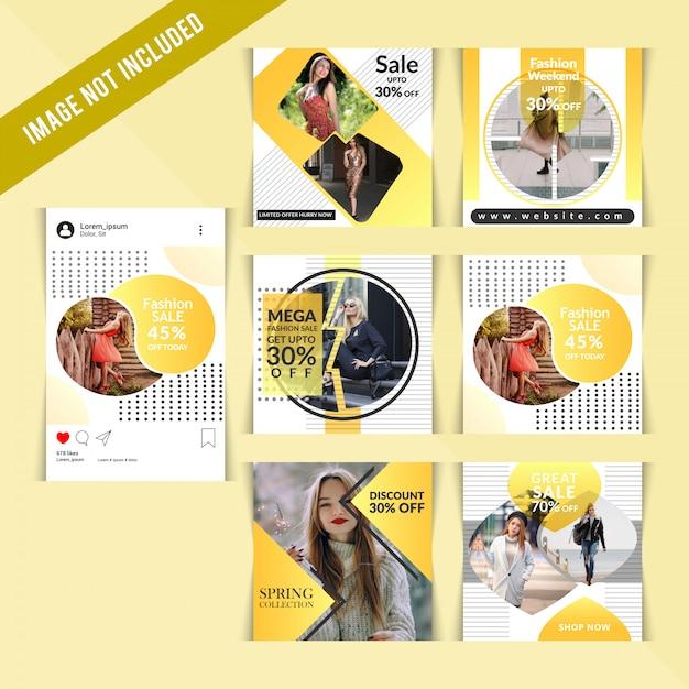 Mode social media post voor digitale marketing Premium Vector