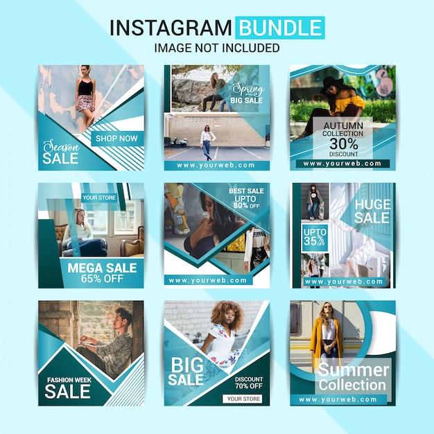 Mode sociale media post Premium Vector