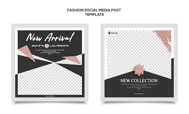 Mode sociale media sjabloon Premium Vector