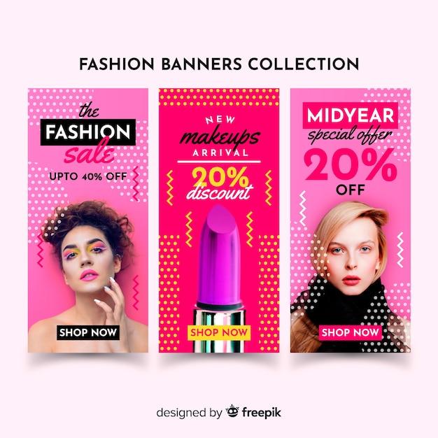 Mode verkoop banner Gratis Vector
