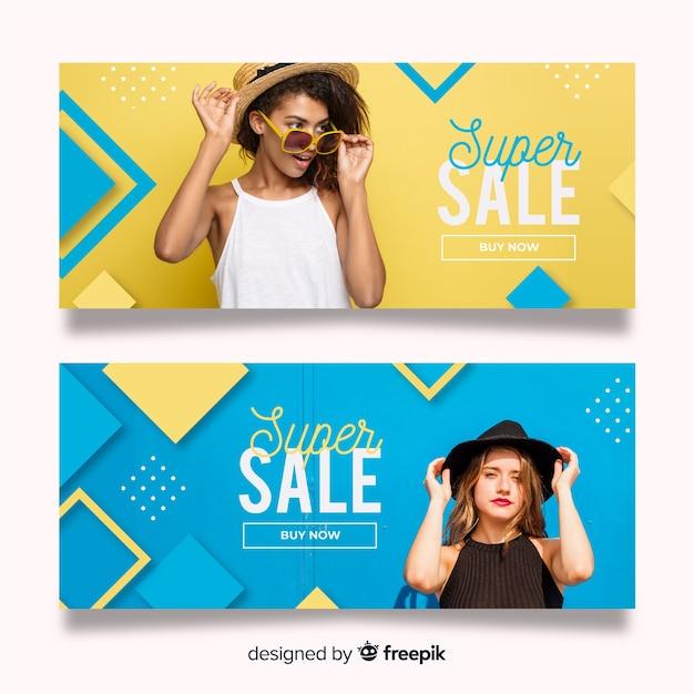 Mode verkoop banners Gratis Vector