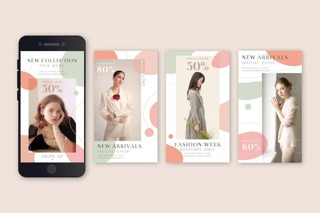 Mode verkoop instagram verhalen Gratis Vector