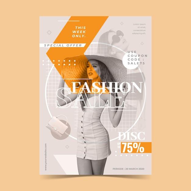 Mode verkoop sjabloon concept Gratis Vector