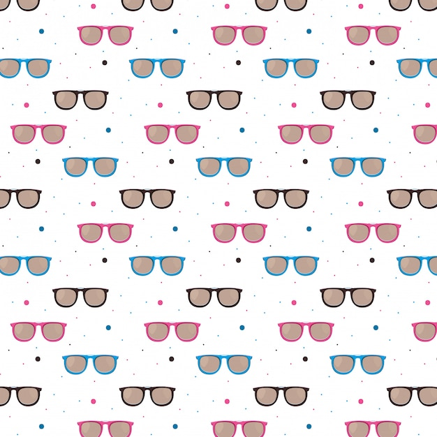 Mode zonnebril patroon achtergrond Gratis Vector