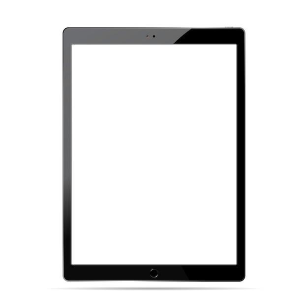 Model mockup van tablet-pc. illustratie van een mobiel apparaat. Premium Vector