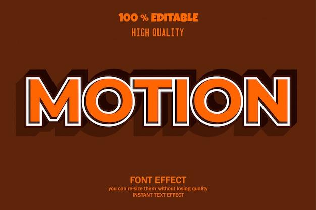 Modern 3d teksteffect, bewerkbaar lettertype-effect Premium Vector