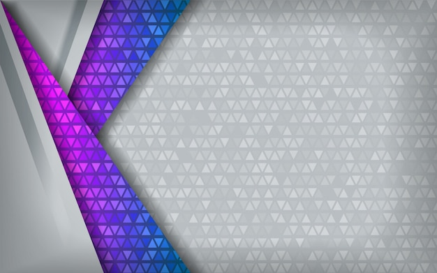 Modern abstract blauw purper technologiewit met overlappingsachtergrond. Premium Vector