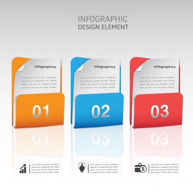 Modern abstract infographic element sjabloon Premium Vector