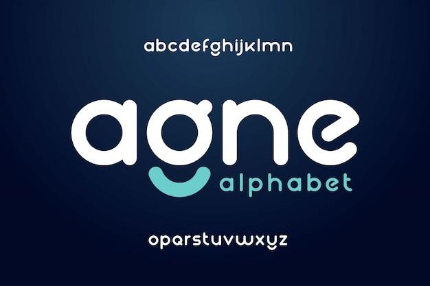 Modern abstract lettertype en alfabet Premium Vector