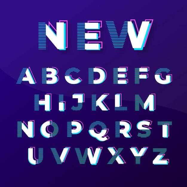 Modern abstract modieus lettertypeontwerp Premium Vector