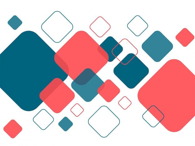 Modern abstract patroon met geometrische vierkanten elementen. Gratis Vector
