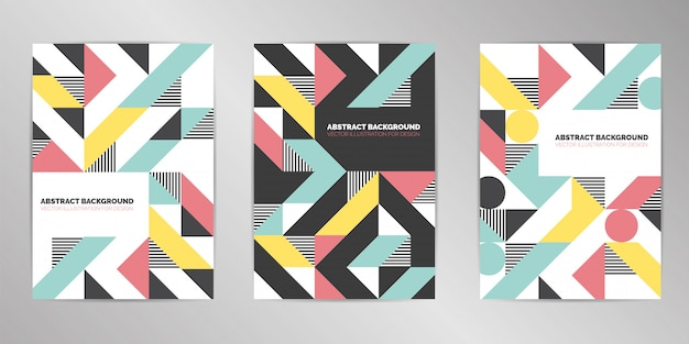 Modern achtergrondontwerp van het dekkingsontwerp a4 formaat Premium Vector
