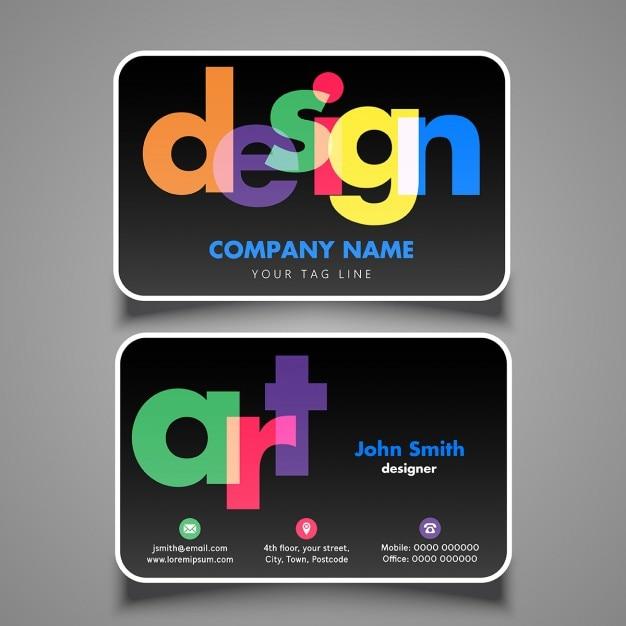 Modern adreskaartjeontwerp voor ontwerper of kunstenaar Gratis Vector