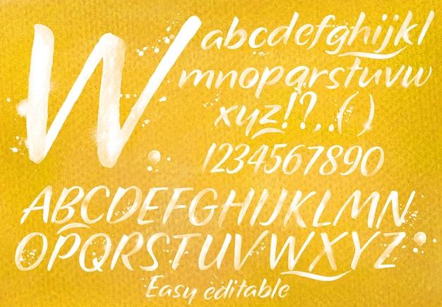 Modern alfabet oranje Premium Vector
