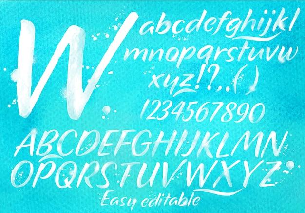 Modern alfabetblauw Premium Vector
