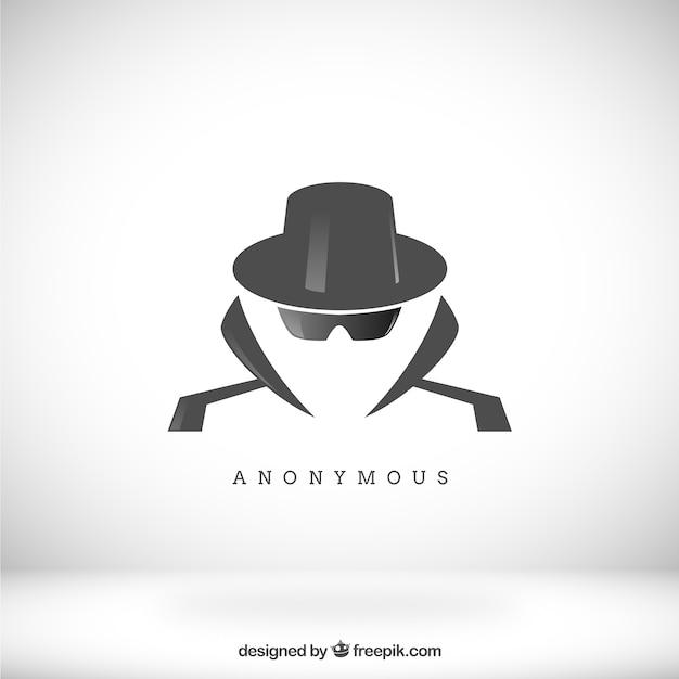 Modern anoniem concept met een plat ontwerp Gratis Vector