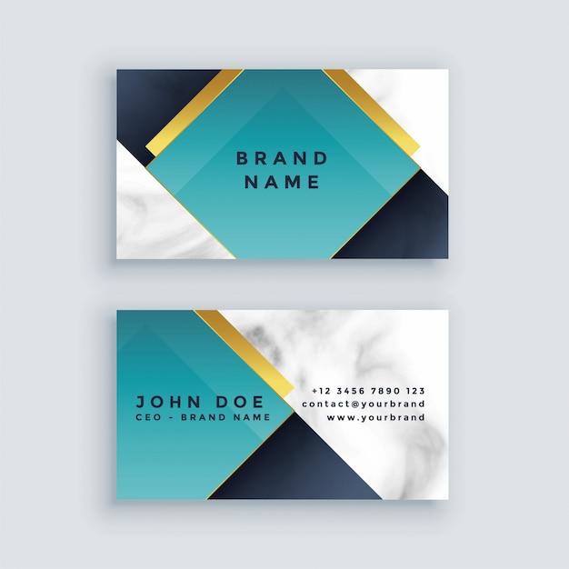 Modern bedrijfsvisitekaartje in marmeren visitekaartjeontwerp Gratis Vector