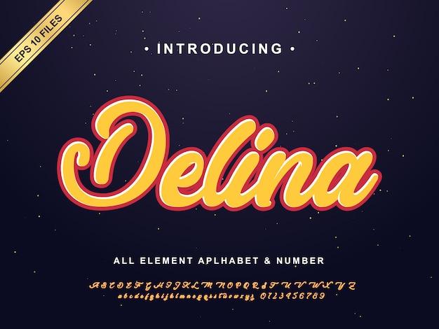 Modern belettering lettertype effect, graffiti effect typografie stijl Premium Vector
