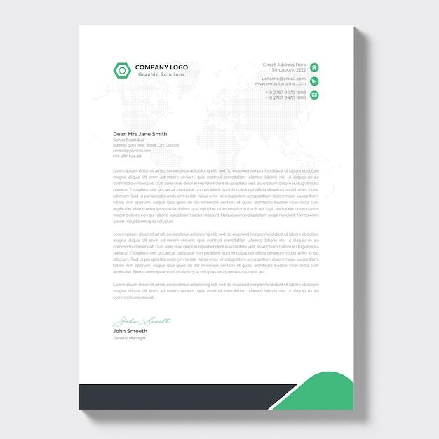 Modern briefpapier van het bedrijf Gratis Vector