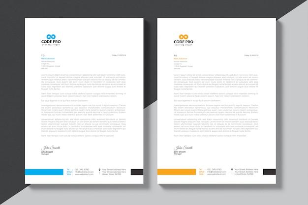 Modern briefpapier van het bedrijf Premium Vector