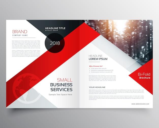 Modern business bifold brochure ontwerp sjabloon of magazine pagina ontwerp Gratis Vector