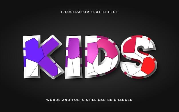 Modern cartoon bewerkbaar teksteffect Premium Vector