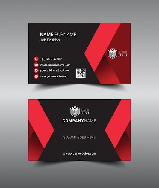 Modern creatief en schoon sjabloonontwerp voor visitekaartjes. Premium Vector