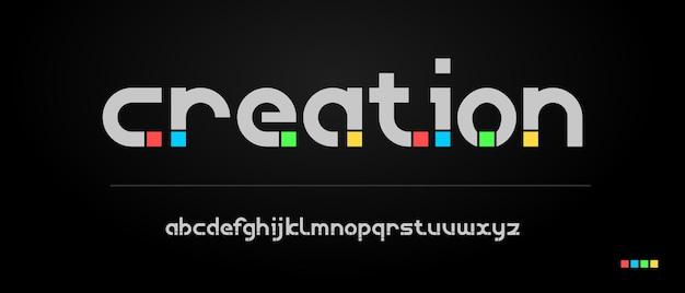Modern creatief lettertype-ontwerp. typografie stedelijke stijl voor plezier, sport, technologie, mode, digitaal, toekomstig creatief logolettertype Premium Vector