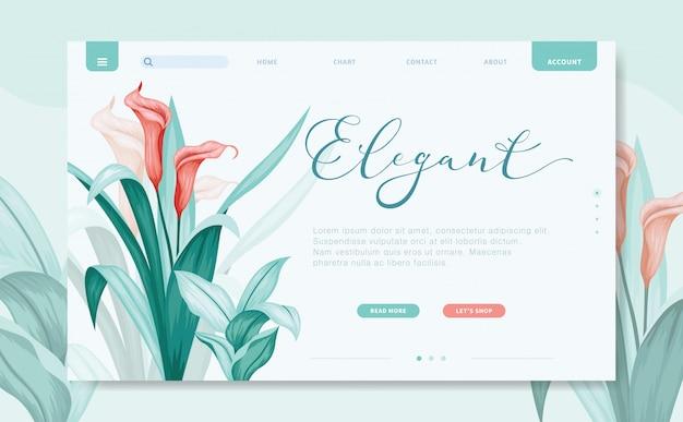 Modern design website sjabloon Premium Vector