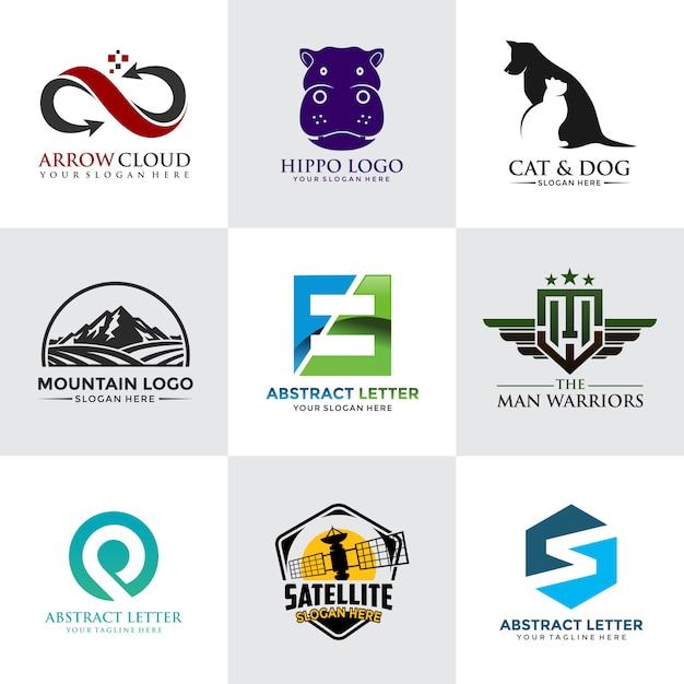 Modern en minimalistisch logo sjabloon Premium Vector