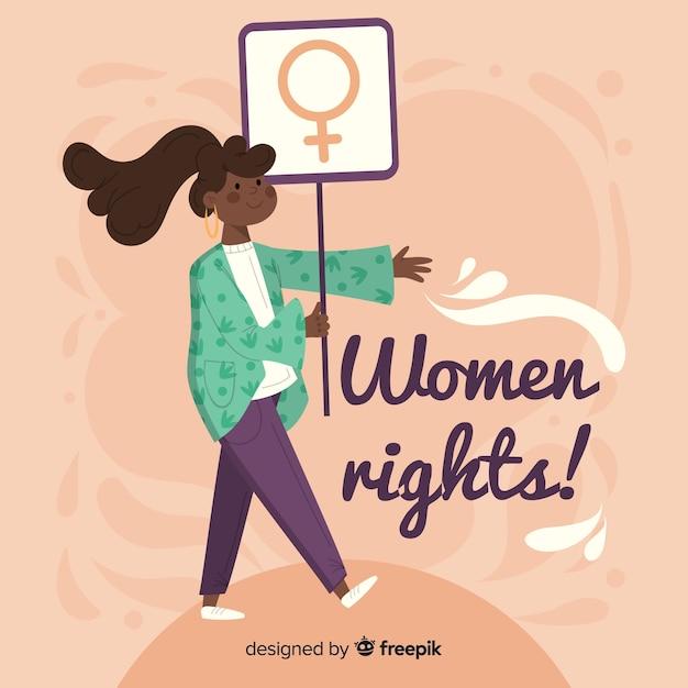 Modern feminismeconcept met vlak ontwerp Gratis Vector