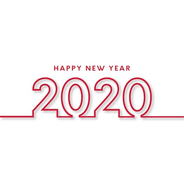 Modern gelukkig nieuwjaar Gratis Vector