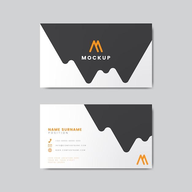 Modern geometrisch visitekaartjeontwerp Gratis Vector