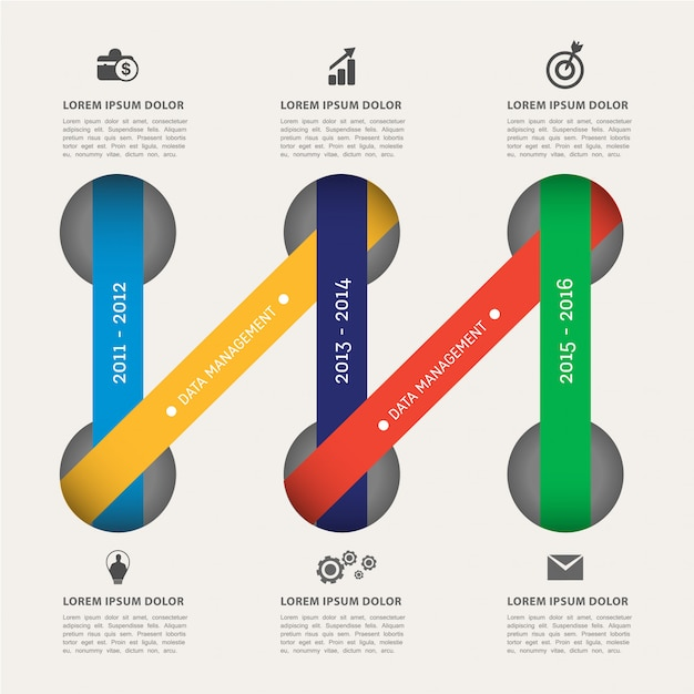 Modern infographic element sjabloon Premium Vector