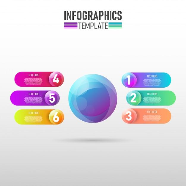 Modern infographic-sjabloon voor het bedrijfsleven Premium Vector