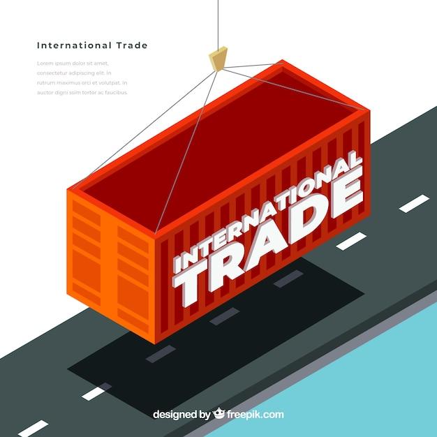 Modern internationaal handelsconcept met vlak ontwerp Gratis Vector