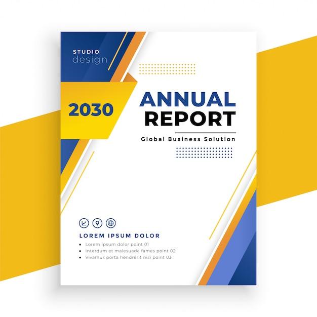 Modern jaarverslag zakelijke flyer sjabloonontwerp Gratis Vector