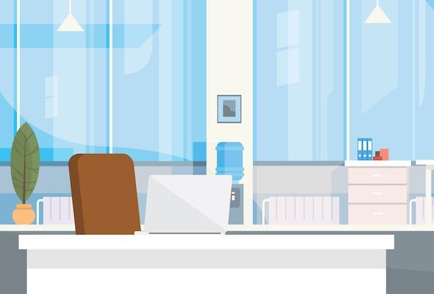 Modern Kantoor Interieur : Modern kantoor interieur werkplek lege stoel bureau vector