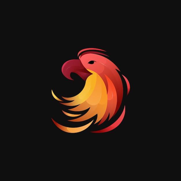 Modern kleurrijk verloop eagle-logo Premium Vector