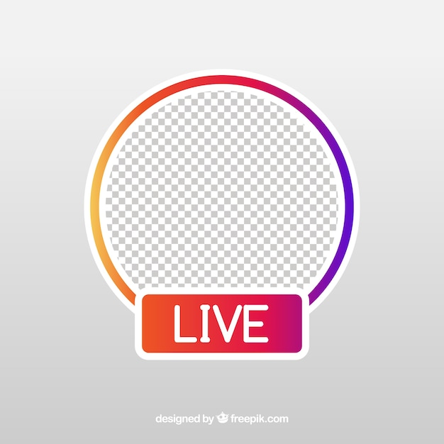 Modern live streaming-pictogram met plat ontwerp Gratis Vector