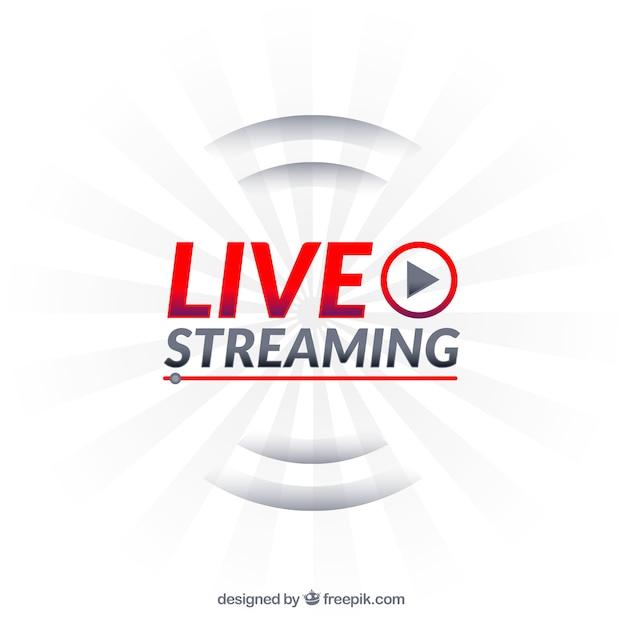 Modern live streaming-pictogram met plat ontwerp Gratis Vector