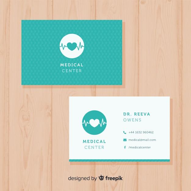Modern medisch visitekaartje concept Gratis Vector